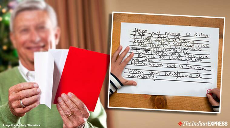 In isolation, 93-year-old man receives heartwarming letter from 5-year-old neighbour