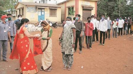 visually-impaired people, coronavirus, india lockdown, Vangani residents, mumbai news, indian express news