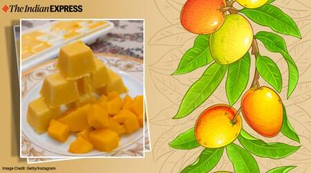 mango kulfi, how to make mango kulfi, dessert recipes, indianexpress.com, indianexpress, saransh goila recipes, saransh goila, mango rabri, how to make mango kulfi at home, homemade desserts, desserts without condensed milk, desserts without milk powder, mango kulfi without condensed milk,
