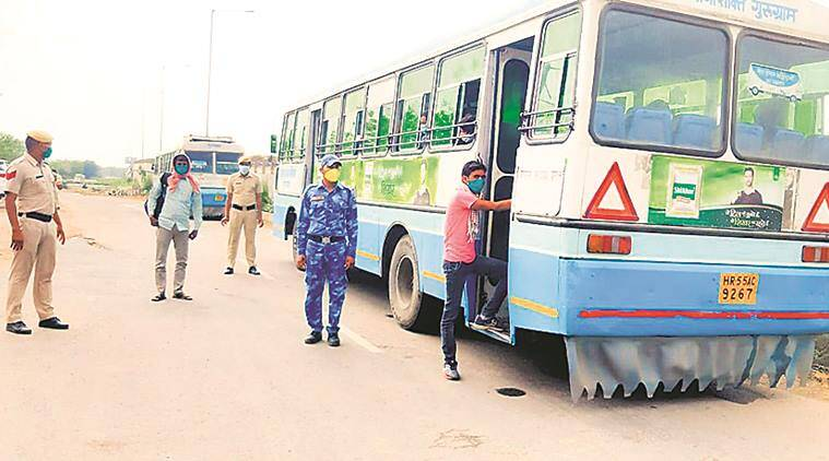 More buses roll in with 953 stranded outside state including 152 students