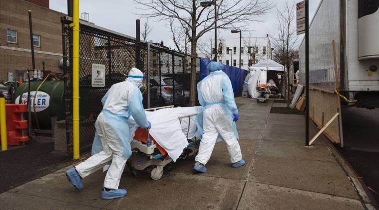 New York reports first decline in daily coronavirus deaths