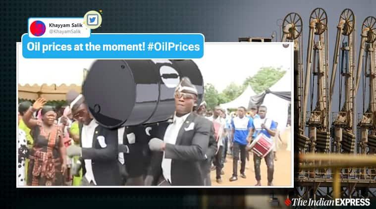 oil prices, crude oil price, US market oil crash, oil prices crash, viral news, indian express