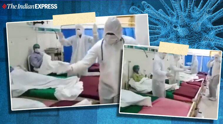 covid-19. coronavirus, coronavirus cases pakistan, pakistan doctors dance viral video, trending, indian express, indian express news