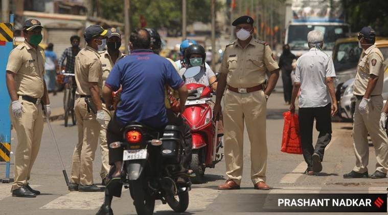 coronavirus, coronavirus in mumbai, coronavirus warning in mumbai, maharashtra lockdown, maharashtra police, indian express news