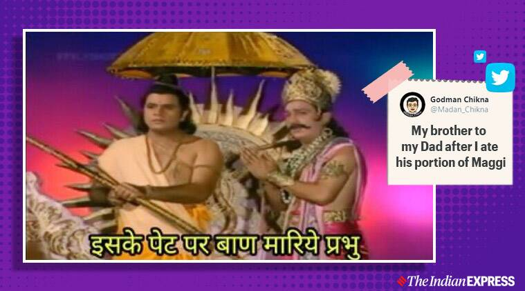 As people enjoy Ramayan reruns, one scene from the show has become a hit meme