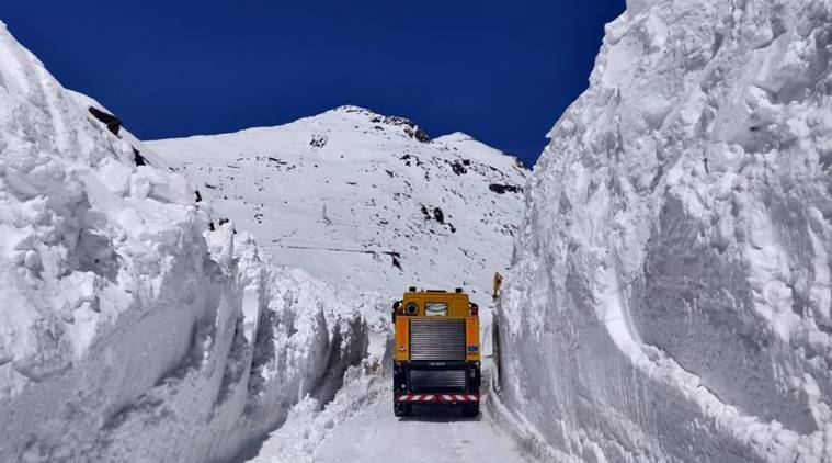 Border Roads Organisation, BRO, Lahaul-Spiti-Lahaul-Spiti road, Lahaul-Spiti residents, India news, Indian Express
