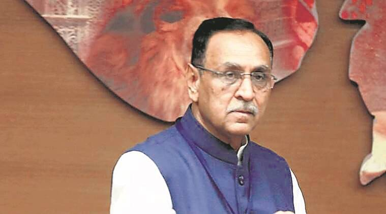 coronavirus, india lockdown, gujarat cm, vijay rupani, gujarat foundation day, gujarat apl families, gujarat apl families ration, indian express news