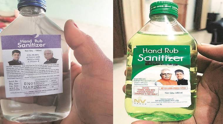 Cong slams Haryana CM and his deputy for photo on hand sanitisers; faces heat in Punjab