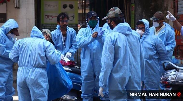 coronavirus, coronavirus in gujarat, coronavirus cases in surat, surat sachin area mass quarantine, mass quarantine, indian express news