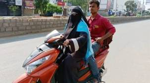 Telangana mom makes 1400-km round-trip on scooty to bring home son stranded in Andhra