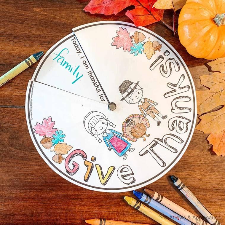 parenting, gratitude wheel