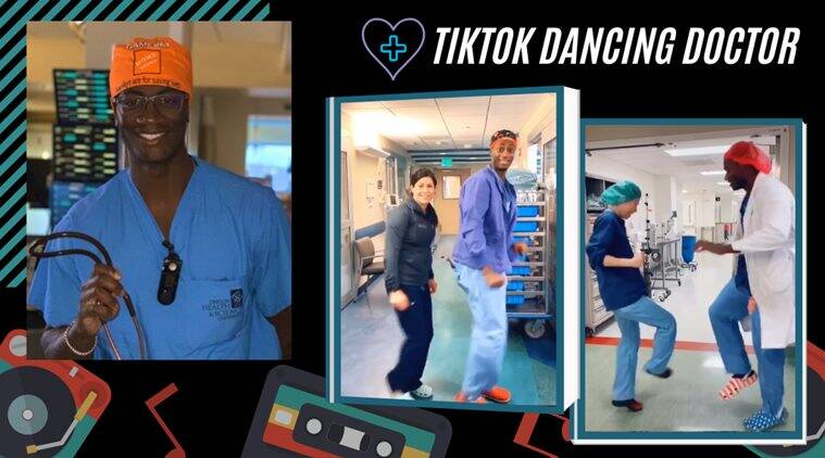 dancing doctor, tiktok dancing doctor, oregon dancing doctor, OHSU doctor dance, dr jason campbell dance, doctor coronavirus foot shake, coronavirus doctor dance, coronavirus update, viral news, good news, indian express