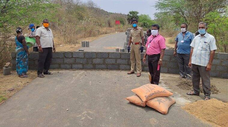 Tamil Nadu raises wall in some entry points to curb vehicle movement from Andhra Pradesh