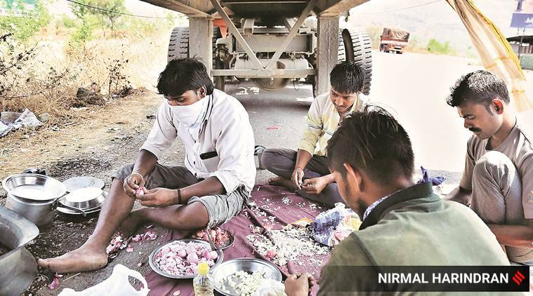 coronavirus, india lockdown, truck drivers, roadside dhabas, maharashtra coronavirus cases, Maharashtra lockdown, Indian express