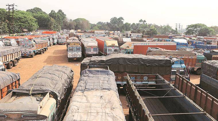 Truck drivers stranded, india lockdown, coronavirus, west bengal news, indian express news