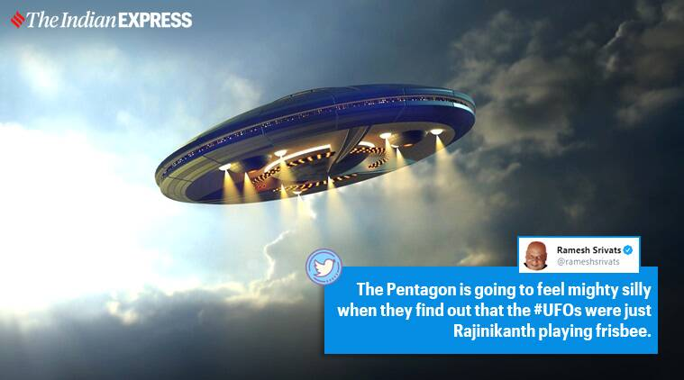 UFO, Pentagon, Petagon UFO sightings, US Navy UFO sightings, Pentagon UFO classified video, UFO memes, viral news, indian express