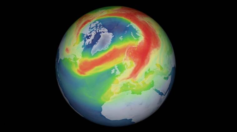 Ozone, ozone hole, arctic hole, unusual hole over arctic, arctic ozone layer hole, ozone layer hole