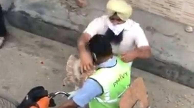 Watch: In Punjab, residents thank garbage collector with garland of currency notes