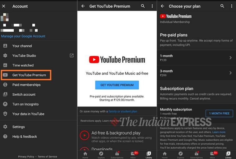 Youtube premium, youtube music premium, youtube UPI payment, youtube music UPI payment, pay using UPI at youtube, pay using UPI at youtube music