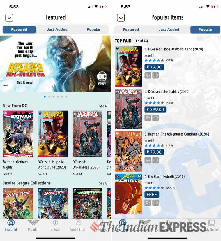 comics, comic books apps, comic reader apps, DC comics, marvel unlimited, japanese manga, ComiXology