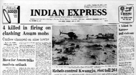 Indian express forty years ago, assam violence 1980, assam accord, Prime minister indira gandhi opposition meet, 1980 political events, indian politics, indian express archives, indian express news