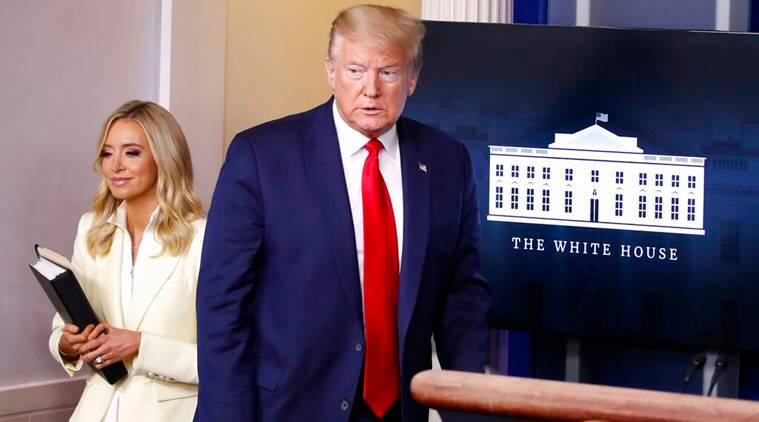 White House press secretary Kayleigh McEnany inadvertently reveals Trump's bank account information