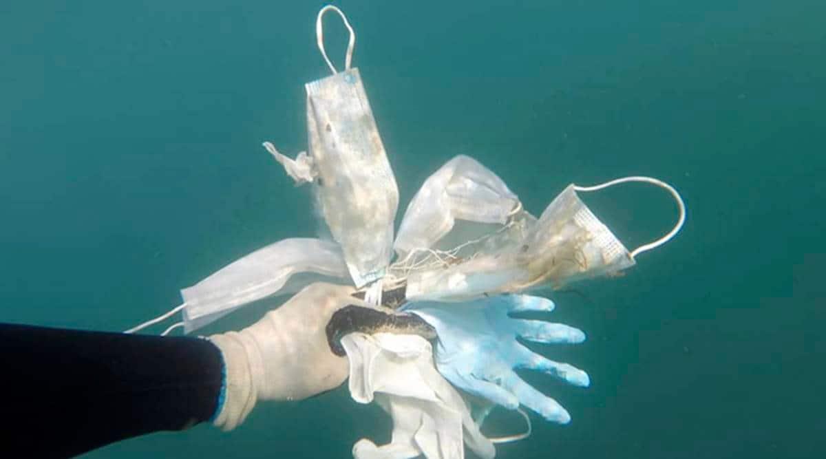 plastic pollution, coronavirus plastic waste, indian express opinion, neeti aayog,