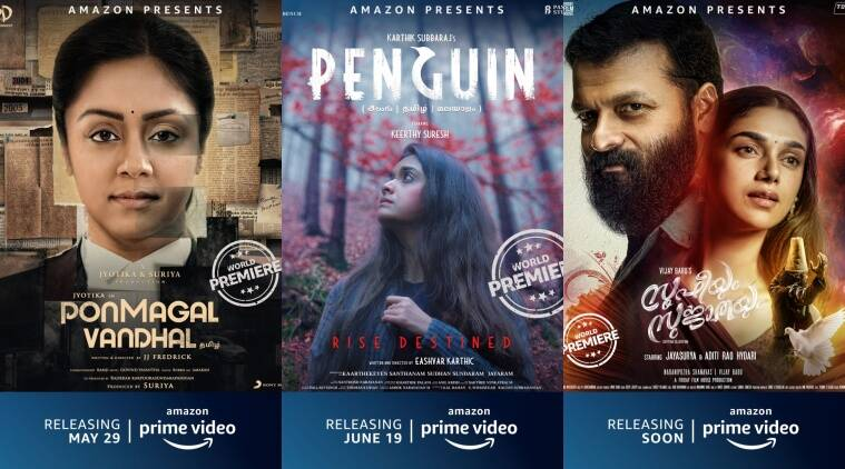 Ponmagal Vandhal Penguin Law French Biryani Sufiyum Sujatayum To Premiere On Amazon Prime Video Entertainment News The Indian Express