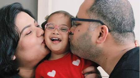 First Indian couple to adopt a child with Down syndrome, Veda Baluni Kaktwan, Down syndrome, parenting, adoption, indian express, indian express news