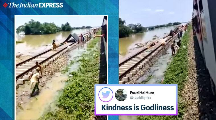 assam flood, shramik train, mizo people back from bangalore, mizoram sharmik trains, passengers give away food flood victims, Mizoram news, north east news, good news, indian express
