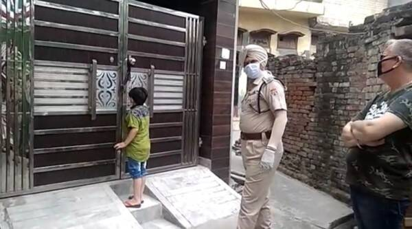 lockdown child takes police over tuitions, child calls police over tuitions video, COVID-19, COVID-19 India, COVID-19 India Outbreak, COVID-19 Punjab, COVID-19 Punjab Outbreak, COVID-19 Punjab Lockdown, COVID-19 Punjab Cases, COVID-19 Punjab Deaths, COVID-19 Punjab Recovered, Punjab Tuition COVID-19, Punjab Tuition Curfew, Punjab Tuition Curfew COVID-19, Batala SSP, Opinderjit Singh Ghuman, Batala Police, DSP (Crime), Gurdeep Singh, Gurdaspur, Gurdaspur Tuition COVID-19, Gurdaspur Tuition Curfew, Gurdaspur Tuition Curfew COVID-19, Punjab News, Indian Express News