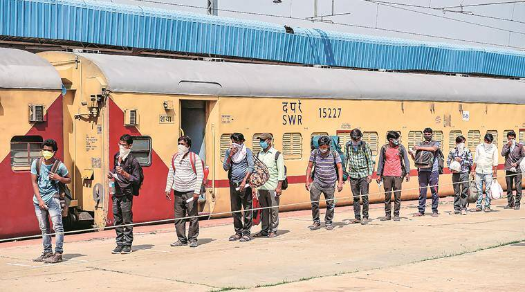 migrant workers, India lockdown, Coronavirus crisis, special train, Mumbai news, indian express news