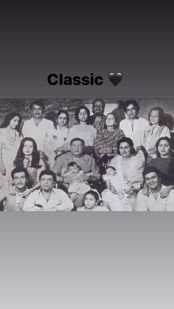 rishi kapoor family portrait