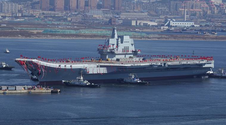 China's second aircraft carrier begins sea trials to test weapons, equipment