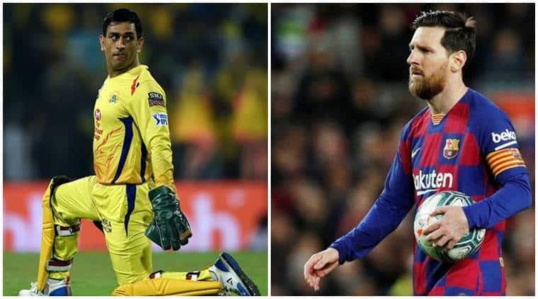 MS Dhoni, Lionel Messi, Dhoni Messi, Suresh Raina, Suresh Raina wife, CSK, cricket news, sports news