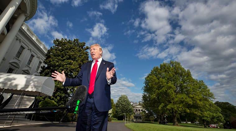 Donald Trump, Donald Trump coronavirus, Trump coronavirus, Donald Trump coronvirus test, Trump coronavirus test, World news, Indian Express