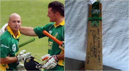 Herschelle Gibbs, Herschelle Gibbs 175, Herschelle Gibbs 438 run chase, Herschelle Gibbs 175 bat auction, Herschelle Gibbs Coronavirus funds, Herschelle Gibbs covid 19 funds, cricket news
