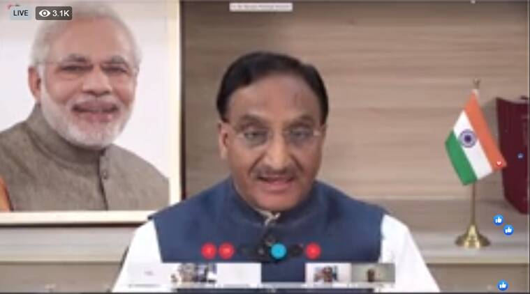 final year exams, term end exams, online exams, college exams, hrd minister ramesh pokhriyal nishank, education news