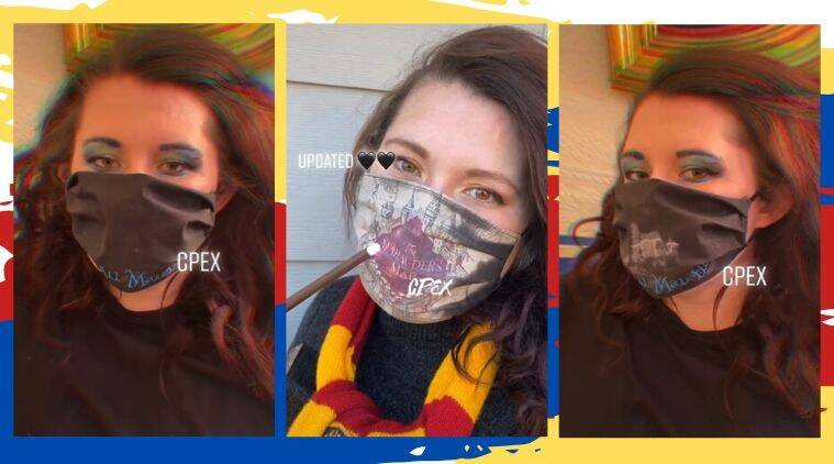 Harry Potter mask, harry potter face mask, harry potter colour changing mask, Marauder's Map fave mask, Marauder's Map harry potter, coronavirus facemask, COVID-19, Trending news, Indian Express news