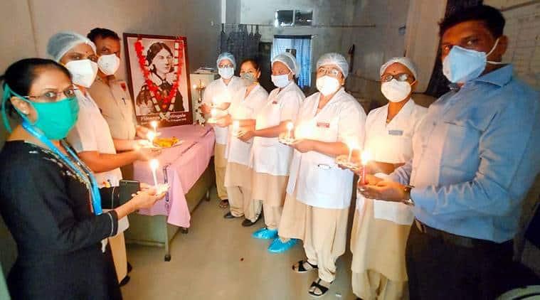 Nurses Day celebration at Aundh civil hospital on Tuesday.