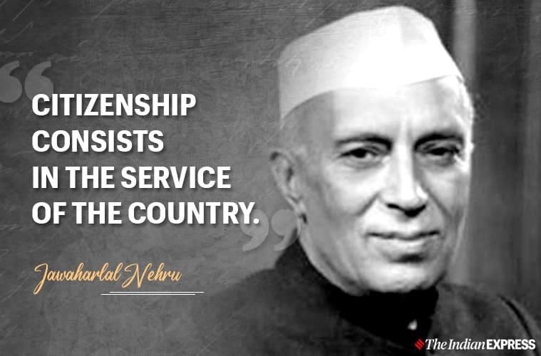 jawaharlal nehru, jawaharlal nehru quotes, indian express news