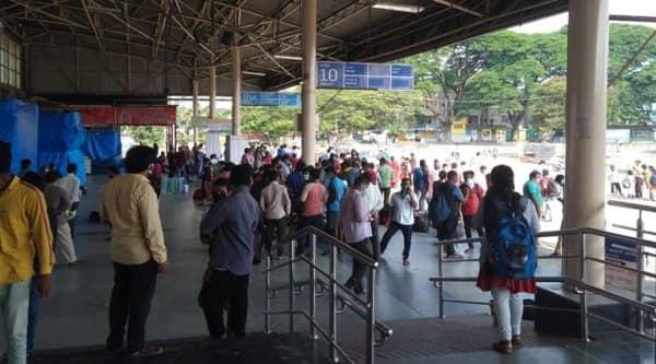 Majestic Bus Terminal, Karnataka, Migrant Workers