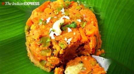 archana's kitchen recipes, archana doshi, khara bhath recipe, rava bhath, south indian recipes, indianexpress.com, indianexpress,