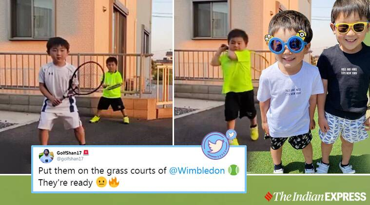 Watch Japanese Brothers Ace Roger Federer Novak Djokovic S Backhands In Viral Video Trending News The Indian Express