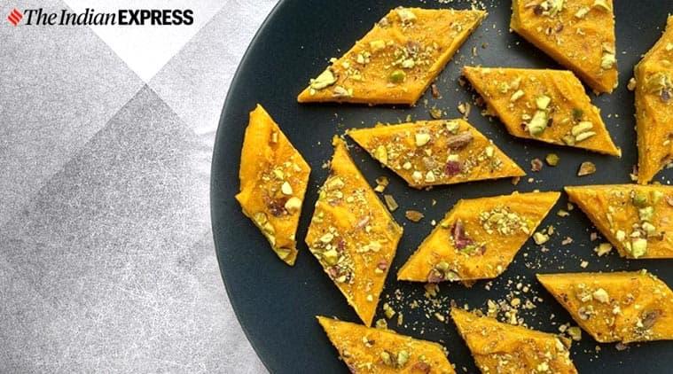 mango barfi, zerowaste cooking, leftover mangoes, mango recipes, easy recipes, maunika gowardhan, indianexpress.com, indianexpress,