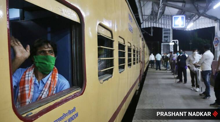 India migrants train, coronavirus India lockdown, India lockdown migrants trains, trains India lockdown, Indian express