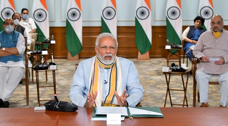 Lockdown extension meeting, PM Modi meeting with CMs, prime Minister narendra modi, covid-19 india tracker, modi coronavirus meeting, india lockdown, lockdown 3.0, lockdown news, covid-19, indian express