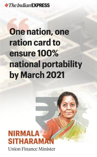 Explained: What is the 'One Nation, One Ration Card' system announced by the Finance Minister?