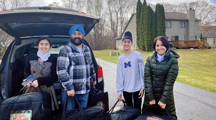 Coronavirus, COVID-19, Pizza delivery, COVID-19 front line workers, frontline workers pizza delivery, New York coronavirus latest, New York Sikh community, US coronavirus update, Trending news, Indian Express news