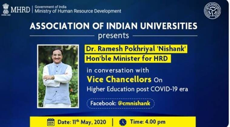 HRD Minister to hold a Facebook live session on May 11